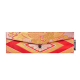 Red & Gold Flower Recycled Kimono Jewelry Pouch