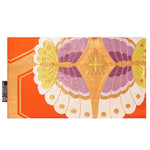 Orange & Purple Butterfly Recycled Kimono Jewelry Pouch