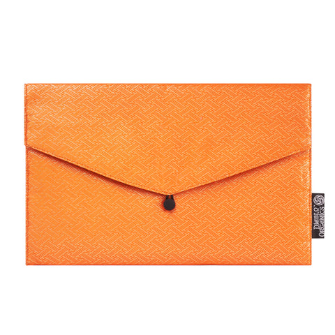 Orange & Gold Sayagata Recycled Kimono Jewelry Pouch