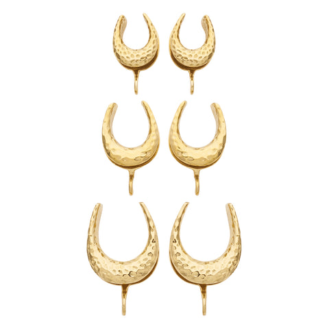 Solid Brass Hammered Saddle Spreader Hooks