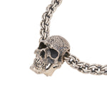 Sterling Silver Skull Necklace - Small