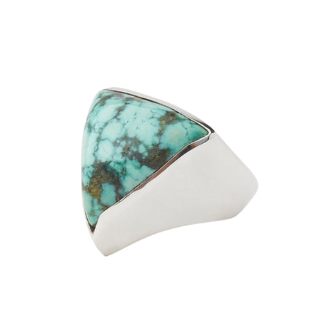 Sterling Silver Triangle Turquoise Ring