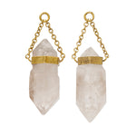 Solid Brass Elastial Double Terminated Crystal Ear Weights