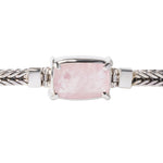 Sterling Silver Square Bracelet with Morganite