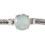 Sterling Silver Square Bracelet with Aquamarine