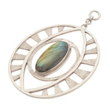 White Brass Labradorite Eyes of Bosco Ear Weights