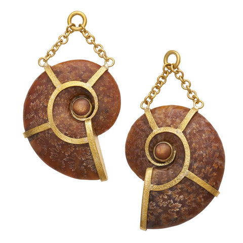 Floating Ammonites and Sunstone Dangles