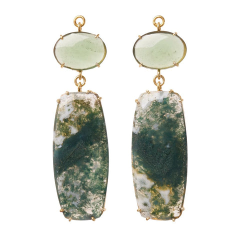 Green Quartz & Moss Agate Jollie