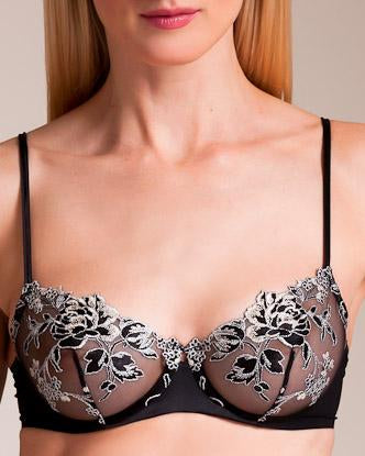 SOUTIEN-GORGE - PEONY - BLACK RIC.GOLD-SILVE