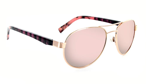 Lacuna - Polarized Womens Pink Aviator Sunglasses