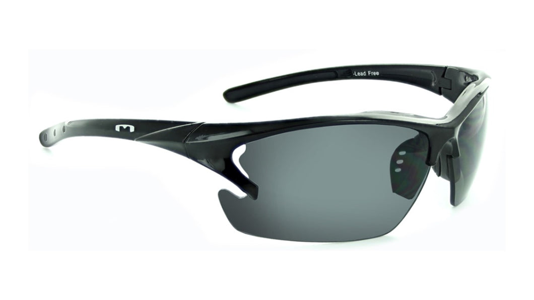 Laser - Smoked Lens Ergonomic Cycle / Moto Sunglasses