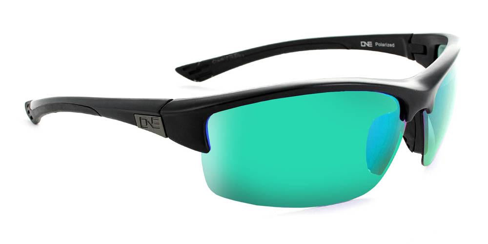 Mauzer - Polarized Half-Frame Sports Wrap Adventure Sunglasses
