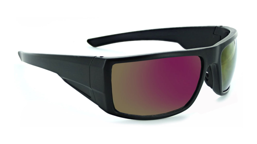 Pursuit - Ergonomic Wrap Frame with High Impact Smoke Lens Sunglasses