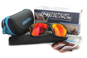 Cassette -  Polarized Interchangeable Sports Cycling Sunglasses