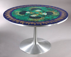 hand-painted aluminum table by Cadovius and Mygge
