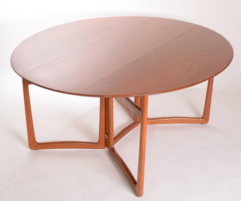Drop Leaf Dining Table by Hvidt and Molgaard-Nielsen