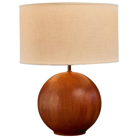Dyrlund Lamp with Teak Base. Image from 1stdibs.