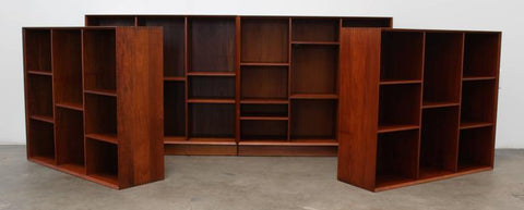 Hvidt and Molgaard-Nielsen Modular Bookcase, Units Separated