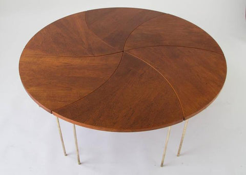 Modular Circular Coffee Table by Hvidt and Molgaard-Nielsen, Shown Whole