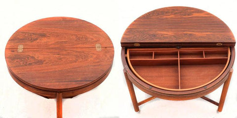 Rastad & Relling Side or Sewing Table from 1stdibs.