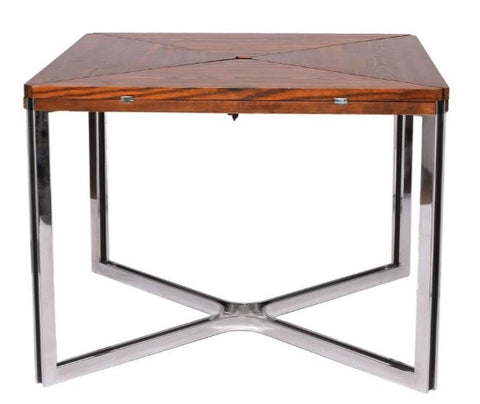 Dyrlund Wenge and Steel Table. Image from 1stdibs.