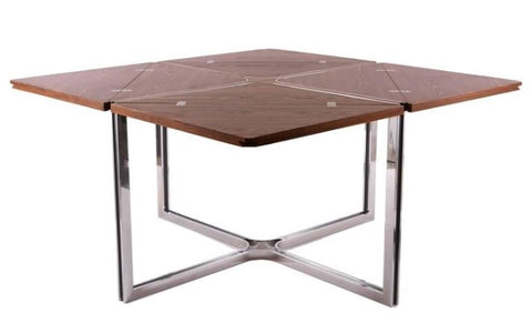 Dyrlund Wenge and Steel Table, Open. Image from 1stdibs.