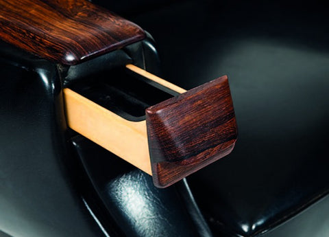 Ashtray built into armrest on H.W. Klein armchair