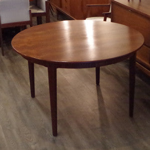 H.W. Klein for Bramin round teak dining table