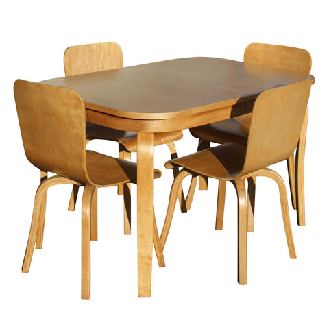 Canadian Wooden Aircraft Modern Dining Table & Chairs