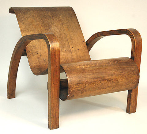 Canadian Wooden Aircraft Bentwood Lounge Chair