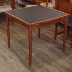 Hundevad Dining Table, Reversible Top, Card Playing Surface Showing