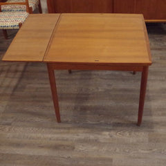 Hundevad Square Dining Table, One Leaf Extended