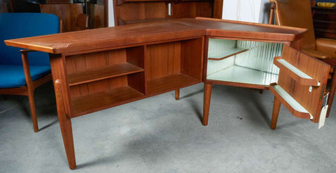 Alternate View of Arne Vodder Desk with Bar