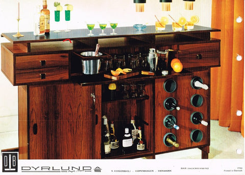 Dyrlund Dry Bar, Catalogue Image. Bar Side View.