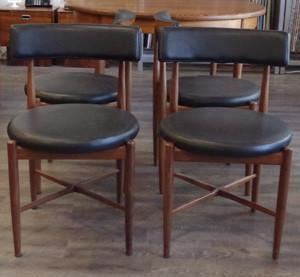 Kofod-Larsen African Teak Dining Chairs, sold by Vintage Home Boutique