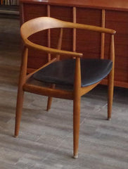 Wegner Round Chair at Vintage Home Boutique, Side View