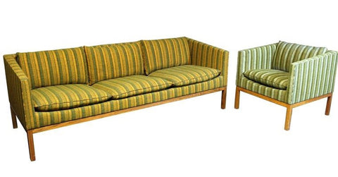 Leif Jacobsen Sofa and Chair Set.