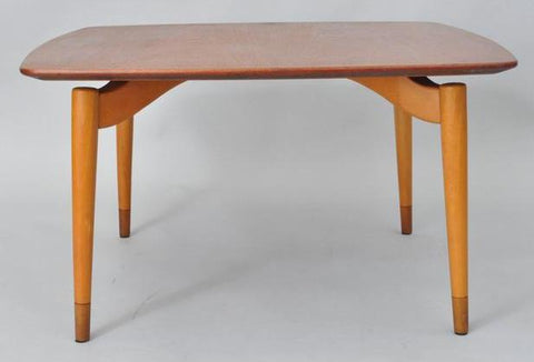 Grete Jalk Coffee Table with Curved Legs, via 1stdibs