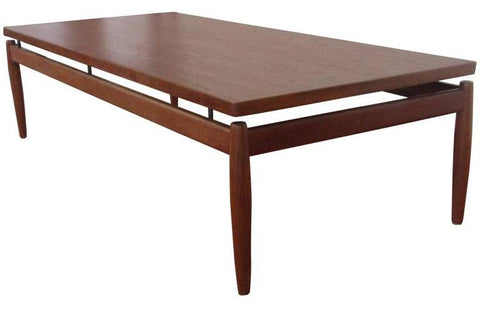 Grete Jalk Coffee Table, Floating Top, via 1stdibs