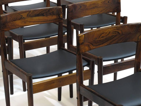 Grete Jalk Rosewood Dining Chairs, image from 1stdibs