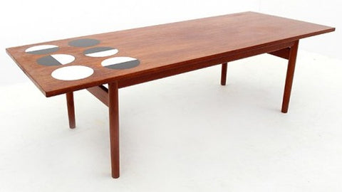 Grete Jalk Coffee Table with Laminate Circles, via Design Addict