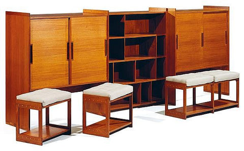 Grete Jalk Bookcase and Dresser Unit with Pull-out Seating, via Invaluable
