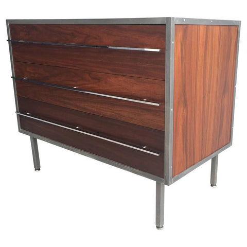 Florence Knoll Chest of Drawers with Steel Frame