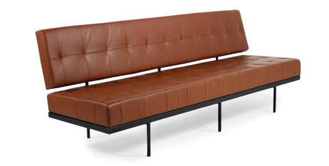 Florence Knoll Cognac Leather Daybed