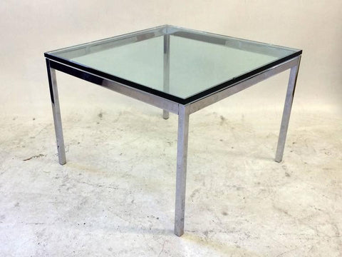Florence Knoll Glass-Topped Side Table