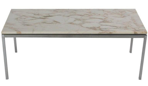 Florence Knoll Marble-Topped Cocktail Table