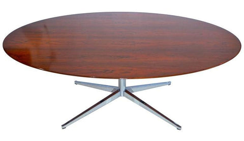 Florence Knoll Oval Rosewood Conference Table