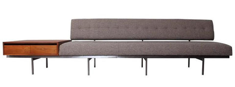 Florence Knoll Sofa with Attached Cabinet
