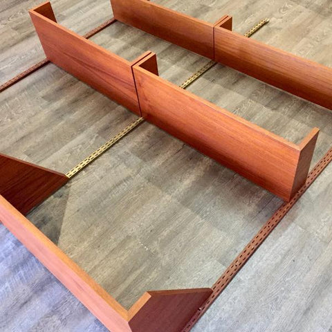 Reff modular teak wall unit, close-up. From VHB's collection.