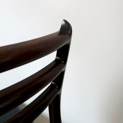 Second closeup of the back of Moller's Model 78 chair